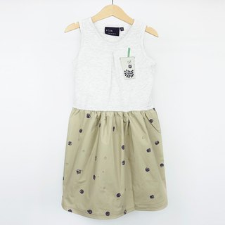 Urb. Pearl milk tea cat girl stitching dress