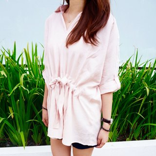 Pretty Lace Slim Long bamboo shirt (pink)