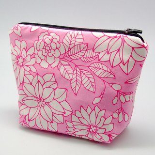 Large flat bottom zipper pouch /cosmetic bag (padded) (ZL-42)