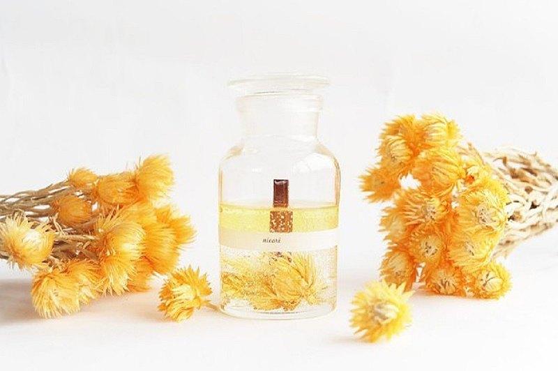 [為送禮!探空香味蠟燭,橙花油混合,100%精油,銀菊杏]植物學瓶