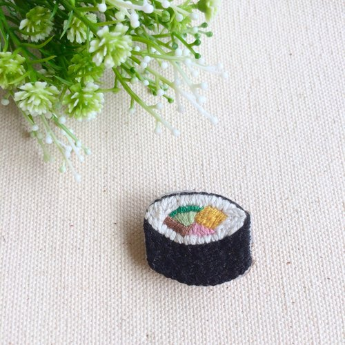 Hand embroidery * flower sushi pin