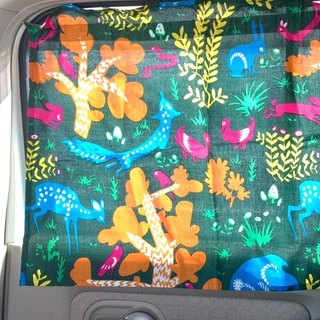 Pre-order forest animal car curtains (three colors) ISAP7289