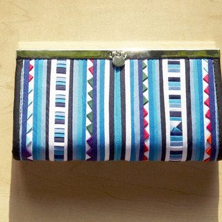 Christmas market exchange gift limited a cotton wallet / hand Patchwork long clip / long wallet / coin purse / large capacity wallet - blue sky puzzle art