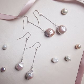 For BFF Dangle Freshwater Pearl Earrings | Able to change into clip on