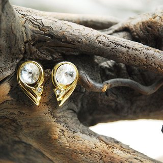 {::: Giraffe giraffe people :::} _ minimalist style antique earrings