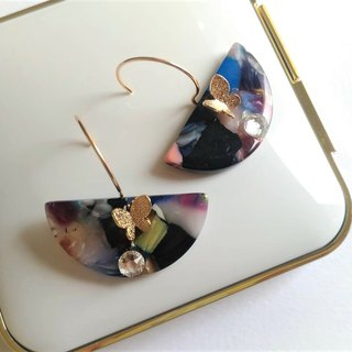 Tone Rock 2 Butterfly Earrings