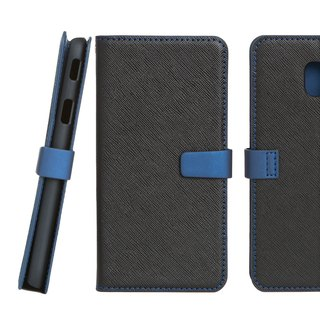 CASE SHOP Samsung Galaxy J3 Pro side lift stand vertical leather case - black (4716779658088)