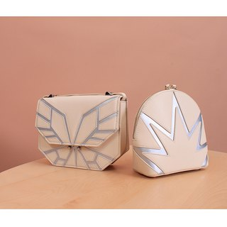 [Hong Kong, Macao and Taiwan] MBS ice butterfly limited series leather ladies shoulder bag saddle bag geometry handbag