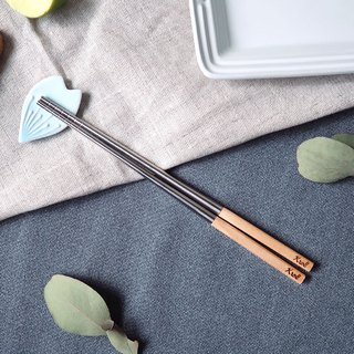 [KROLL] pure titanium elegant household chopsticks (Maple)