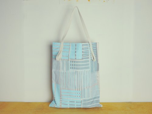 JainJain large chic bag / green shopping bag # 22 metal house blue (hand limit)