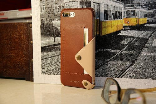 iPhone 7 PLUS / 8 PLUS  5.5 inch Minimalist Series Leather Case - Brown