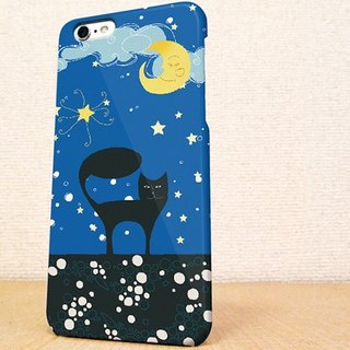 Free shipping ☆ crescent moon and black cat phone case