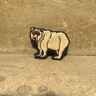 Thick embroidery pin - brown bear zebra unicorn.