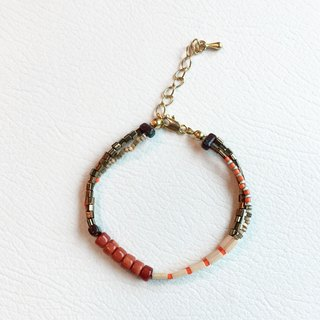ololssim blending orange and white bracelet