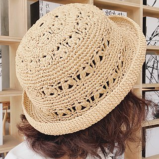 True Words Walk Woven Visor Weave Straw Hat Fisherman Hat