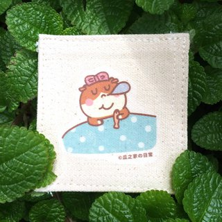 Nap の daily afternoon tea coaster canvas hand-printed (コースター) Coaster