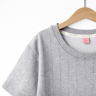 Ma Gray Straight Stripe Tee - Only XS Number Left