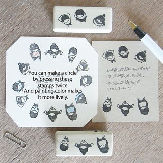 "Handmade rubber stamp ""Funny conversation"""