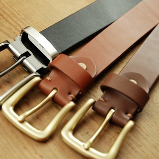 [Father's Day] [leather] Italian vegetable tanned leather belt