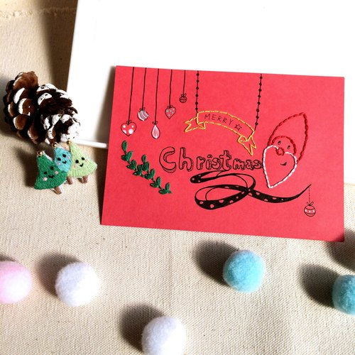 C'est trop Mignon \\ * handmade embroidery embroidery hand-painted greeting cards (including envelopes)