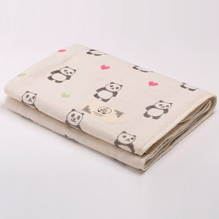[Made in Japan Sanhe Kapok] Six Gauze Cloths - Turning Head Love Panda M