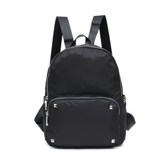 Classic water-repellent rivet black backpack / travel backpack / student bag multi-color optional #1007