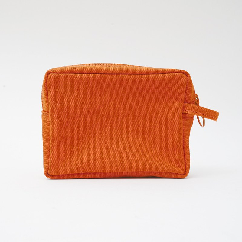 Mushroom MOGU / canvas storage bag / persimmon orange / bubu bear