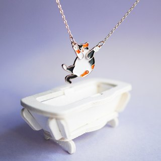 CALICO SURPRISE cat necklace