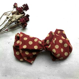 Red dot giant butterfly hair band - whole detachable