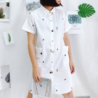 Shirt Dress (Camping) : White