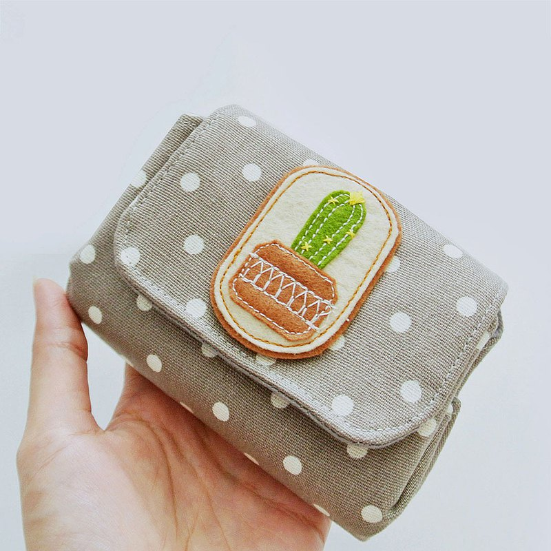 Small Purse, Change Pouch, Coin Purse - Cactus Lovers (C)