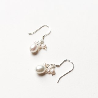 Bubble pearl earrings, simple design, Suitable for daily match,s925