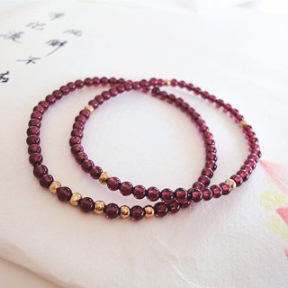 Valentine's Day gift - small world - Garnet Bracelet fine