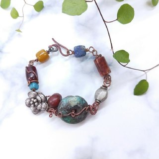[Commodity] only handmade turquoise*Silver*Lapis*carnelian*Copper Assorted bracelets