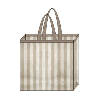 Exclusive Order Linen AlphaBAG Stripe Mashu rough bottom big cloth bag number 5