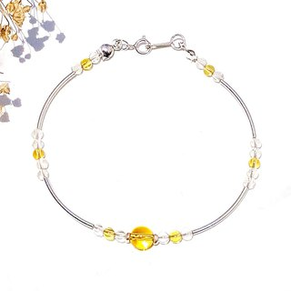 <Weekly Guardian Stone - Thursday> Citrine 925 Sterling Silver Bracelet Thursday Gift