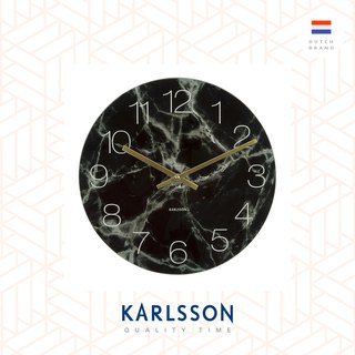 Karlsson, 17cm Table/Wall clock Glass Marble black small