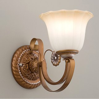 Rustic bronze hand-painted wall light