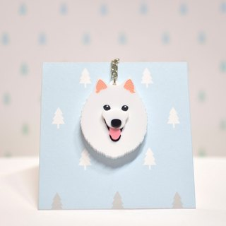Spitz - Keyring - Pet Accessories - Pet Charm - Hairy Kids - Gifts - Custom - Acrylic - BU