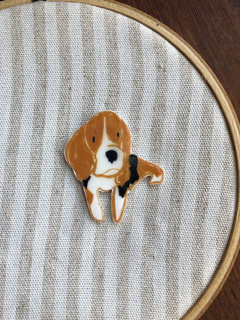 Miguel brooch dog illustration jewelry pin badge