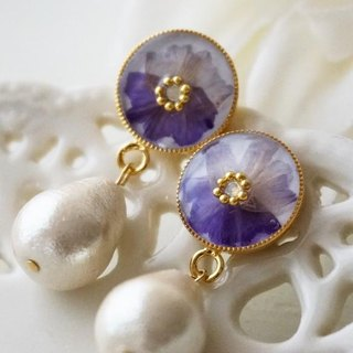 Ikebana and Swarovski Bijou earrings / earrings