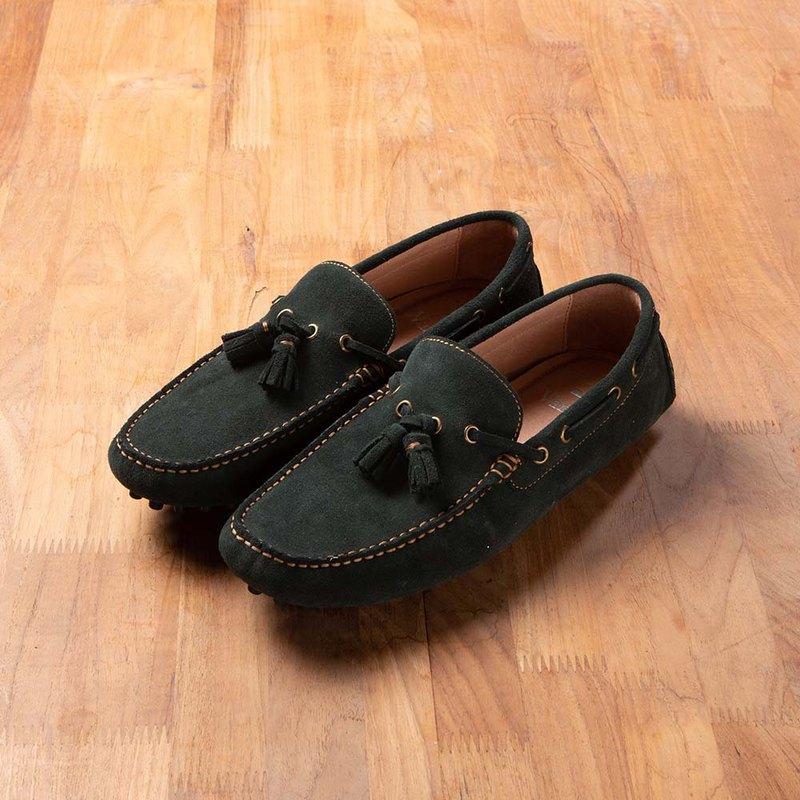 Vanger 造型流蘇樂福鞋 - Va266麂皮綠