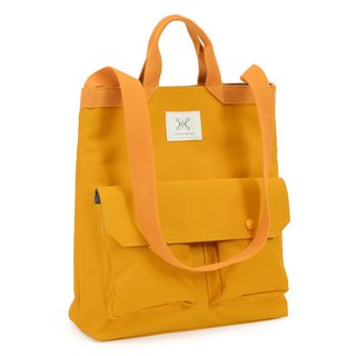 LaPoche Secrete: Wen Qing Gift _ Warm Yellow Waterproof Dual-Use Canvas Bag _ Can Shoulder Portable A4