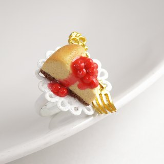 |Berry Cheesecake| Polymer Clay Ring