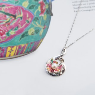 Heart of Tolerant | 925 Silver Necklace with Ceramic Jewelry Box