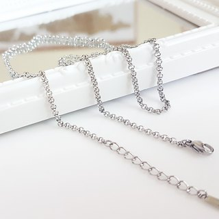 Belle blossoming 2.5mm pearl steel chain (single chain) length 45/55/65 cm steel chain neck chain short chain