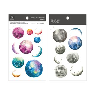 [Print-On Stickers] | Retro Series 26 - Universe Planet | Handbook, DIY Friend