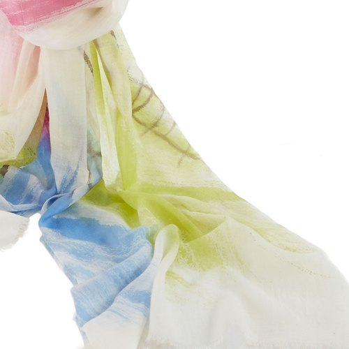 ANGEL WOOLEN] [hand-painted shawls cashmere scarves (abstract palette)
