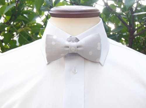 TATAN plump bow tie (gray)
