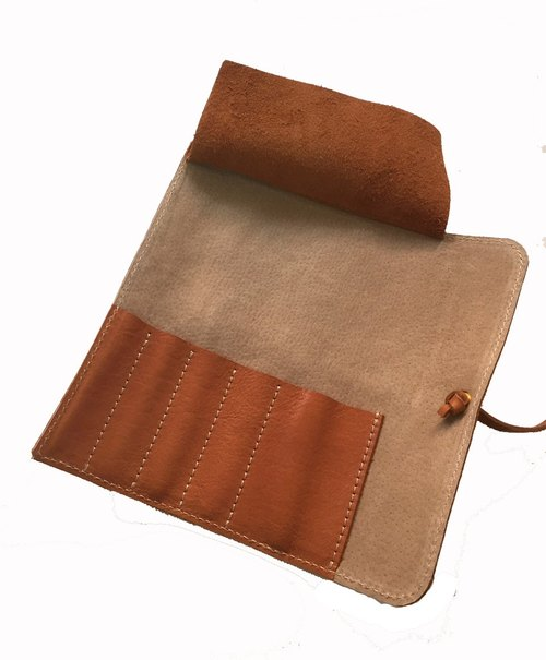 Leather, leather pencil bags pencil pen roll bag tool bags stationery bags